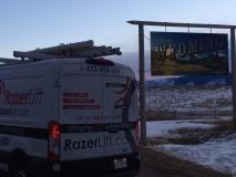 The RazerLift enters Wyoming.