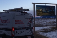 The RazerLift enters Wyoming.